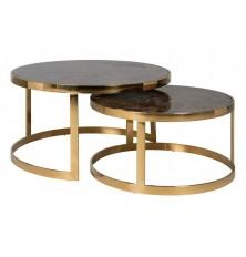 TABLE DE SALON RONDE GOLD